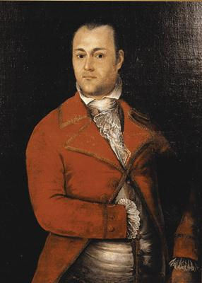 Portrait of Auguste Chouteau (artist unknown), circa 1810.
