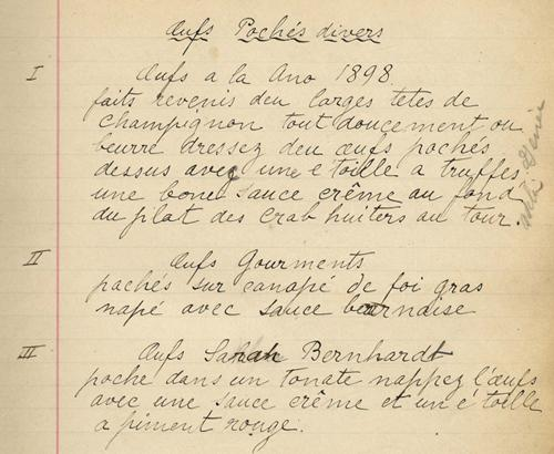 A page out of Axel's original recipe book.