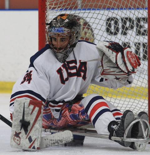 Team USA Sled Hockey Goaltender Steve Cash is from Overland, Mo.