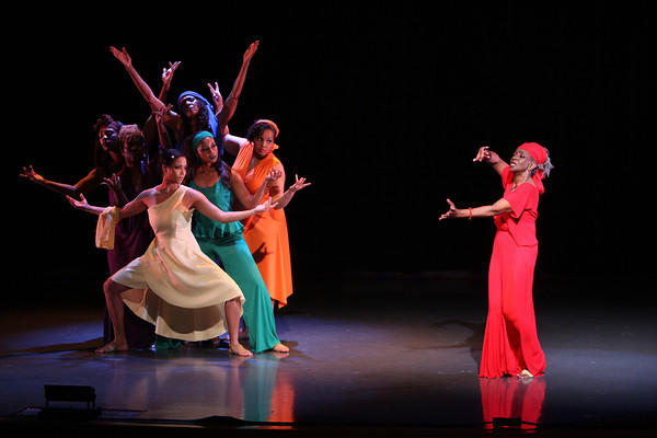 "A scene from ""For Colored Girls Who Have Considered Suicide When the Rainbow Is Enuf,"" presented by the Black Rep in 2014"
