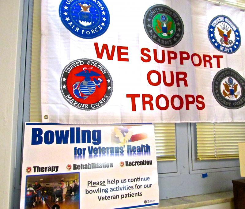 The vets are behind a campaign to raise $500,000 to build a new bowling alley in a rehab center being constructed as part of a $360 million upgrade at the medical center.