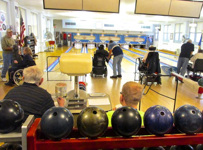 Volunteers assist patients and help maintain the 1950s-era lanes.