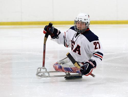 Team USA Sled Hockey Defenseman Josh Pauls attends Lindenwood University.