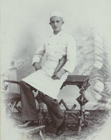 A photograph of author Karen Stoeckley's grandfather Axel Blumensaadt as a young man.