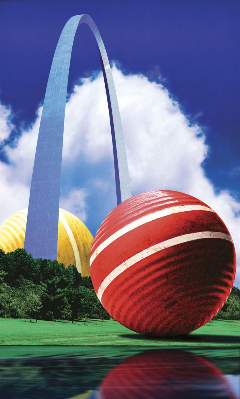 """Croquet Anyone,"" 1988, Lonnie Busch"