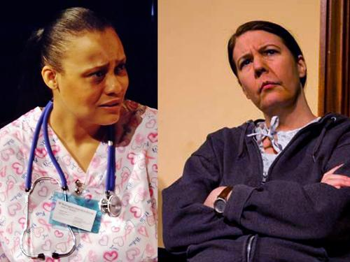 """Cammie Middleton-Helmsing & Theresa Masters in """"Are You Married?,"""" one of the plays performed in the 2013 Briefs Festival."""