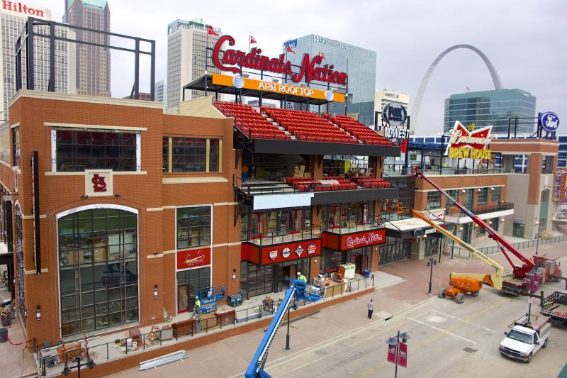 Ballpark Village nears completion
