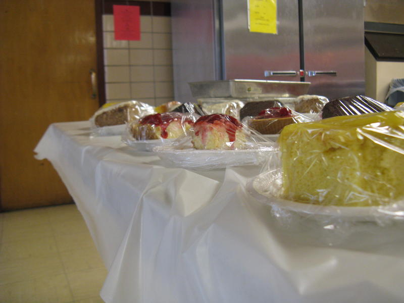 Desserts at Holy Name of Jesus.