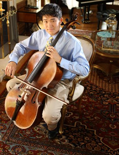 Grant Riew, featured cellist in the March 23, 2014 St. Louis Symphony Youth Orchestra concert.