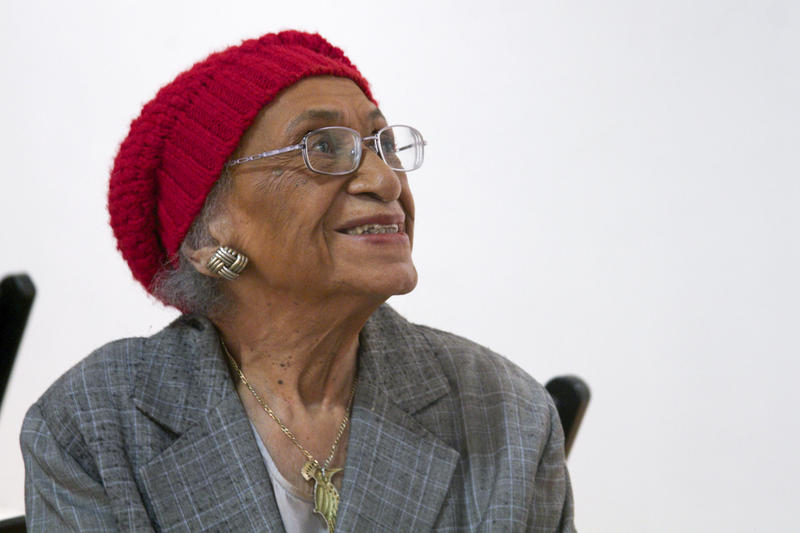Frankie Muse Freeman at a gathering of local civil rights activists in 2014