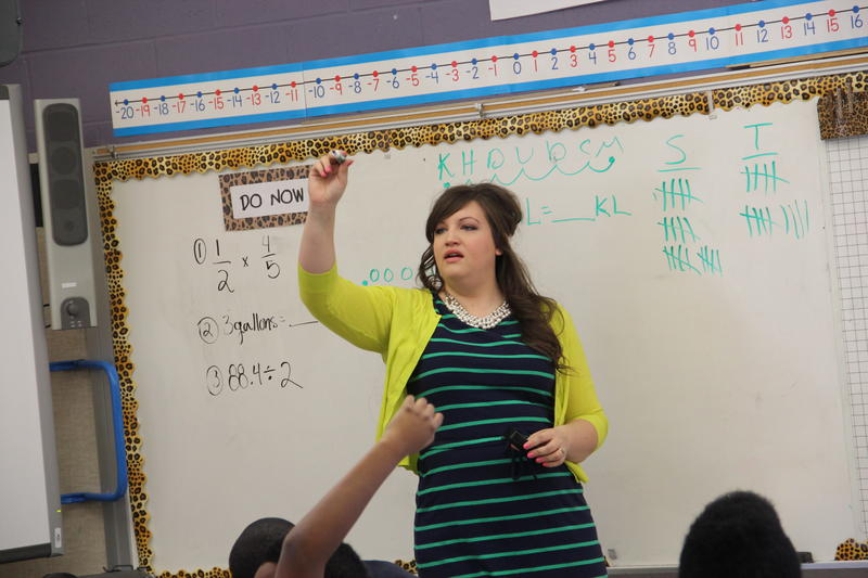 Sixth-grade teacher Melissa Schut has found ways to make coming to school fun and interesting.
