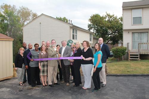 Ribbon cutting ceremony for River Trace Townhomes, an apartment complex for the families of veterans receiving treatment at Oasis Residential@Emerson.
