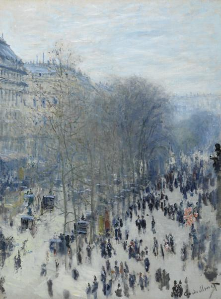 Claude Monet, French, 1840–1926; Boulevard des Capucines, 1873–74; oil on canvas; 31 5/8 x 23 3/4 inches