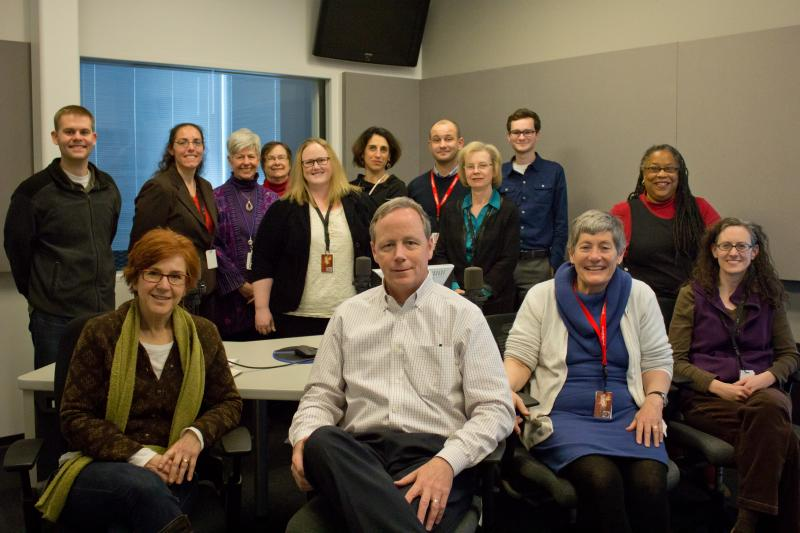 Some of the combined staff of St. Louis Public Radio and the Beacon