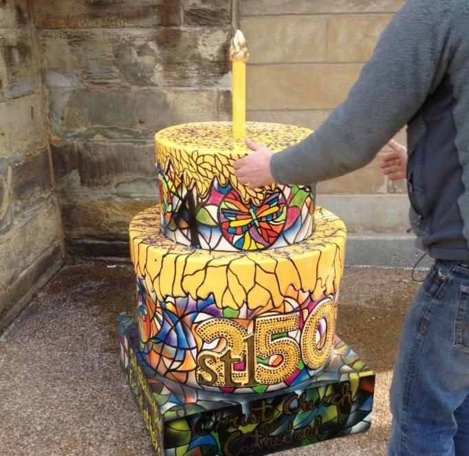 The Christ Church Cathedral cake by Mark Swain