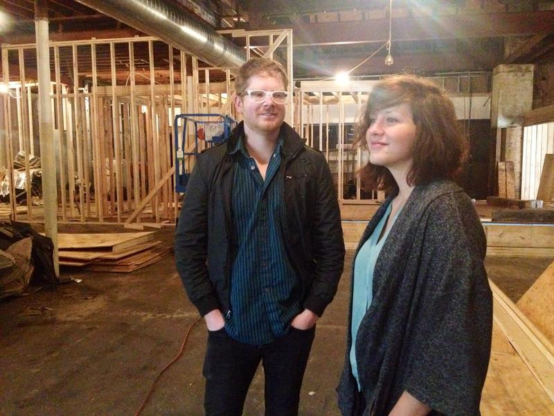 James and Brea McAnally in the work in progress at the new Luminary Center for the Arts.