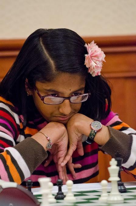 Ashritha Eswaran playing chess
