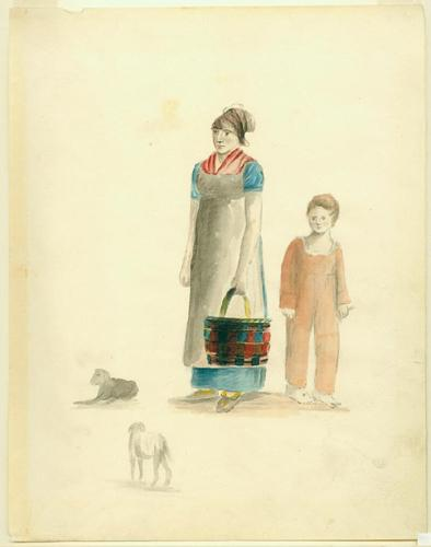 Creole Woman and boy by Anna Maria von Phul, circa 1818.