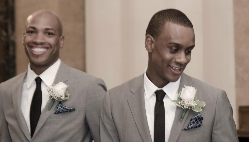 Antonio Douthit-Boyd and Kirven Douthit-Boyd at their wedding.