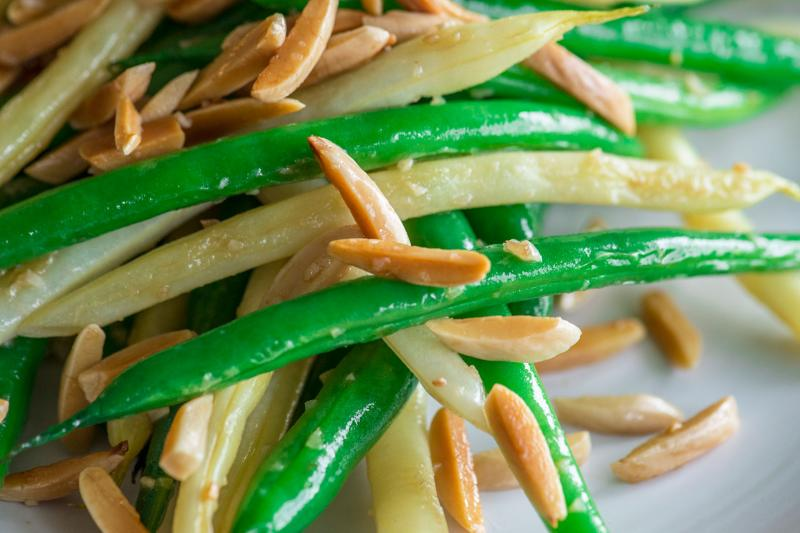 Green beans with almonds is a classic. Recipes were developed by Lynda Balslev, a contributor to NPR's Kitchen Window.