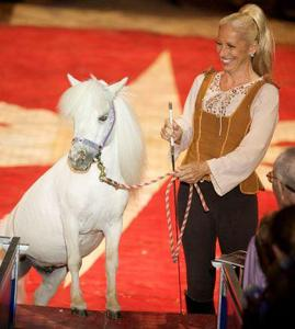 """Equestrian Lisa Dufresne, Circus Flora Presents """"A Trip to the Moon"""""""