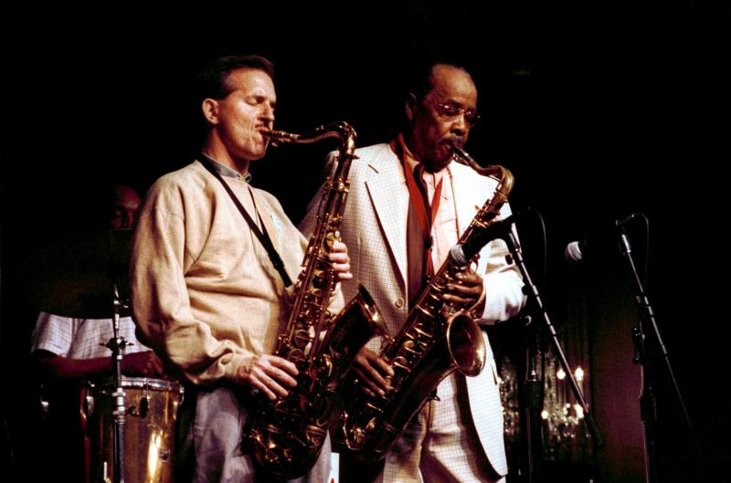 Scott Hamilton (l) Buddy Tate (not on show)-1990