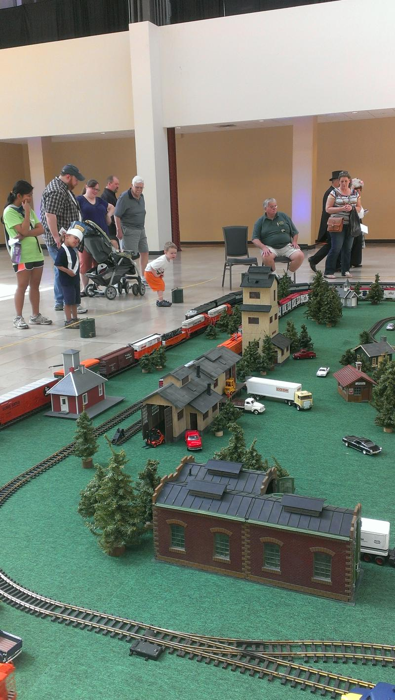 The Southern Illinois Train Club displayed an entire town with trains running through it.