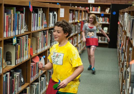 Teen scavenger hunt at Grand Glaize branch of the St. Louis County Library