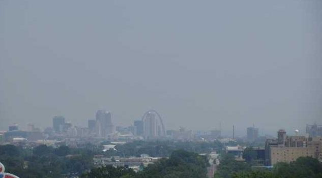 ozone air pollution St. Louis