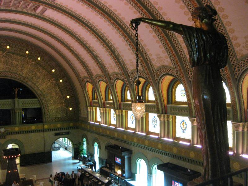 Looking down on Union Station's Grand Hall