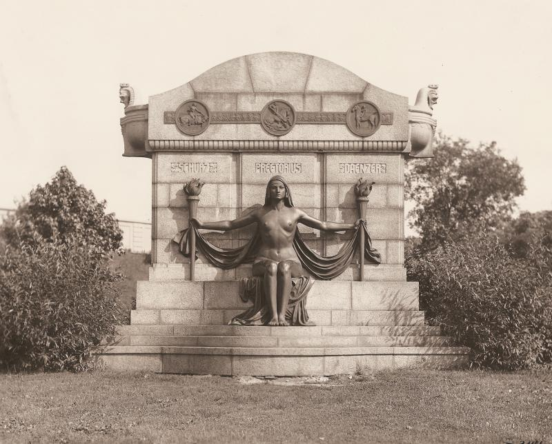 The Naked Truth monument in Reservoir Park