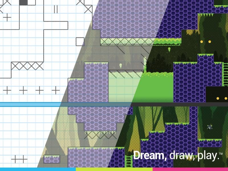 The Floors app allows users to convert their graph paper drawings into a playable video game