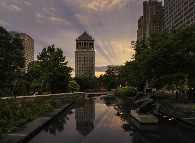 City Garden Sunset by Michael C. Daft, June 2013 (Amateur)