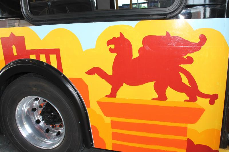Metro invited the public to help paint one of the new buses last weekend.