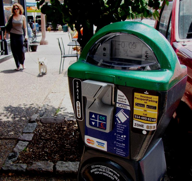 One of the credit card meters tested in the Central West End during the trial phase of choosing new meter venders for St. Louis.