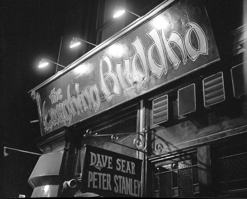 In contrast to the jazz offerings of many Gaslight Square venues, cafés like the Laughing Buddha drew folk performers including Judy Collins and Bob Dylan.