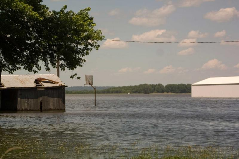 Flooding near Clarksville in 2008