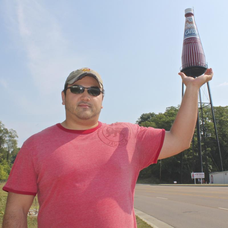 Adam DeLeon, a fan of roadside attractions, was on a roadtrip to St. Louis.