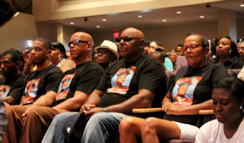 Some wore t-shirts to honor Brown