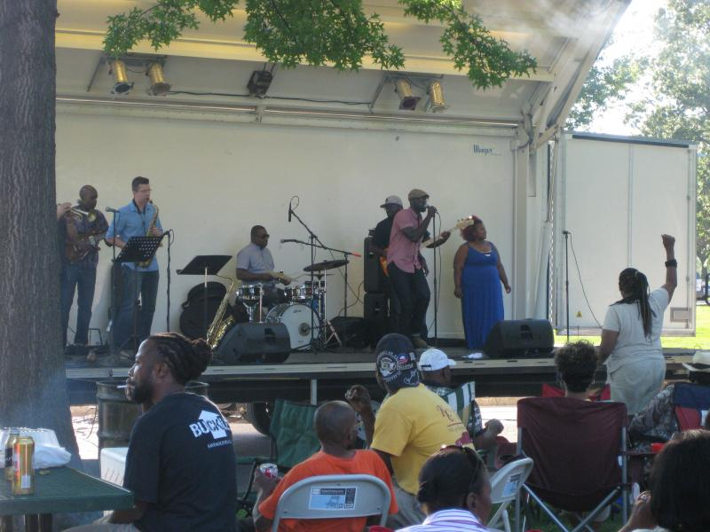 Brian Owens and his band at O'Fallon Park