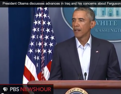 resident Barack Obama addressed issues in Ferguson on Monday.