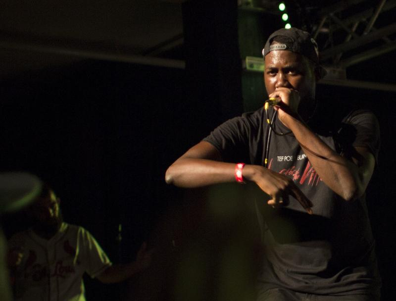 Tef Poe performed at the benefit for Brown family August 2014