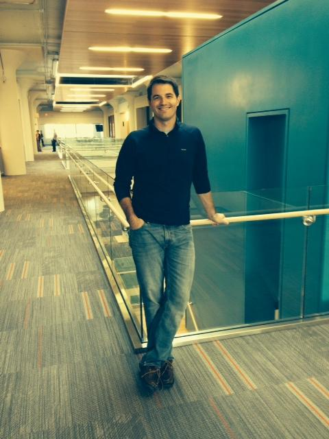 Co-founder and managing director of CIC@4240, Dougan Sherwood, in the new space.