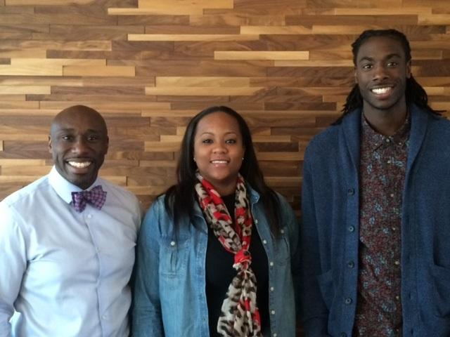 From left to right: The Rev. F. Willis Johnson, Akyiah Phillips and Brandon Hart in Washington, D.C.