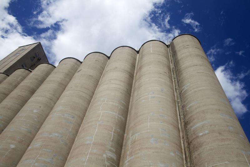 Grain elevator in St. Louis' Mid-Town.
