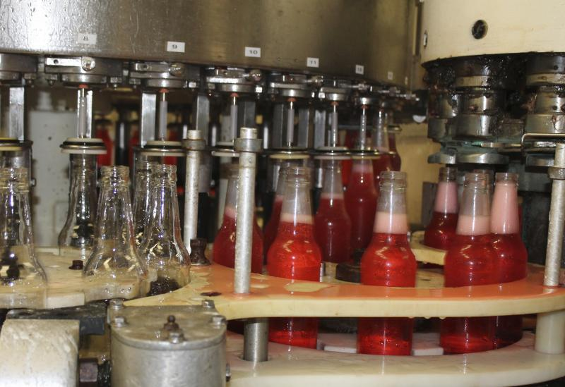 The original bottling line dates to the 1930s and fills 24 bottles a minute.