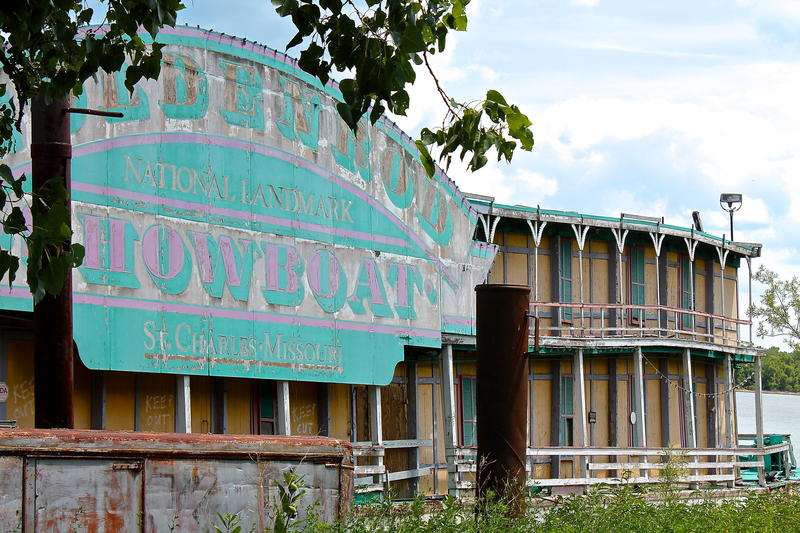 The historic Goldenrod Showboat has spent more than a decade moored on the Illinois River near Kampsville, Ill.