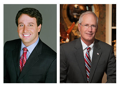 Steve Stenger, Democrat, left, and Rick Stream, Republican, are running for St. Louis County executive.