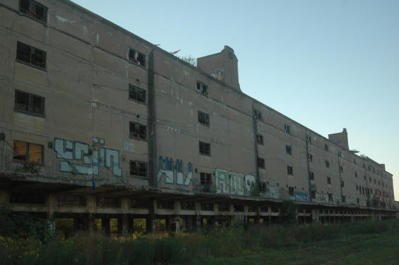 The Cotton Belt building before the work began