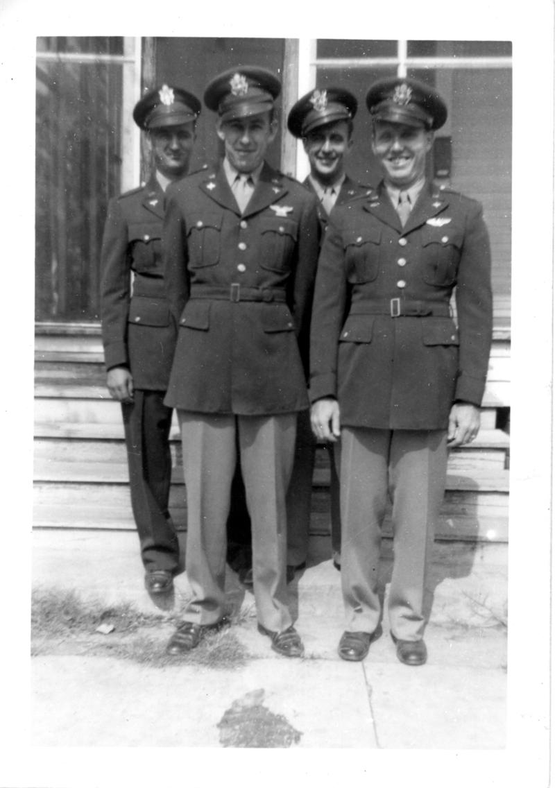Hackleman with fellow airmen - he is in the front left.